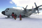 C-130, bound for Amundsen Scott South Pole Station