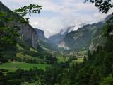Lauterbrunnen, Switzerland, valley view