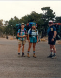 Shirley, Tammy and David ready to start down the South Kaibab Trail