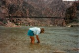 Washing socks in the Colorado River