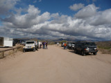 All gathered at the start of Four Peaks road - FR143