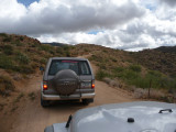 Traveling Four Peaks road
