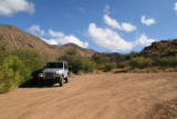 The Jeep at Cline Cabin site