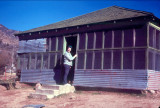 Shirley at Cline Cabin in 1973
