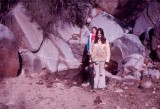 Tammy and Lerayne by the spring in Picadilla Creek in 1973