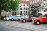 French cars of the danish association of classic cars (it was the 14th of July, national french holiday)