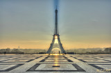 Paris in Winter - Good Morning - Eiffel Tower and trocadero -0101 - HDR