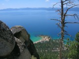 View of Lake Tahoe from Flume Trail