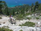Looking down towards Flume Trail & Lake Tahoe