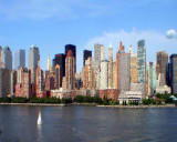 Manhattan west midtown Hudson river