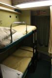 Inside the Turista 4 berth sleeper cabin