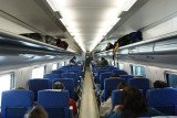Inside a Renfe Avant Tourista (2nd class) coach