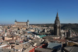View from inside Iglesia de Los Jesuitas towers