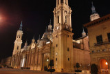 Basilica de Pilar at night
