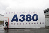 Airbus A380 factory visit. 4 Mar 2009.