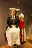 Folk dress exhibition in Norsk Folkemuseum