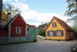 Recreated 18th/19th century city in Norsk Folkemuseum