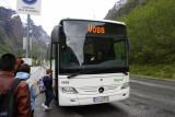 Bus from Gudvangen to Voss
