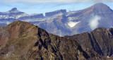 La Brèche de Roland vue depuis l'observatoire du Pic du Midi de Bigorre (  à 2877 mètres de haut )