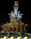 Apollon, la Poésie et la Musique : sculpture en bronze et en feuille d'or d'Aimé Millet
