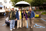 .....the parking lot. Mike, Ron, Nancy  and Jeff comprise our group.