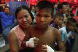 Young boxer and his Mum-Pattaya