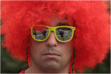 Self-portrait with red wig-Bay to Breakers