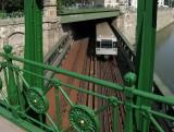 U4 an Wien-Kanal Bruecke;Otto Wagner