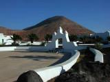 in village Mancha Blanca
