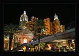 New York-New York,overhead  pedestrian bridges to MGM