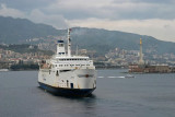 ferryboot leaving Messina