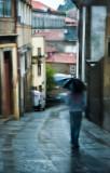Dia de chuva na rua Tomás Gonzaga