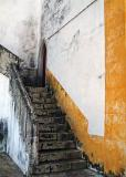 Yellow stairs of the castle