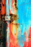 A colored rusty door