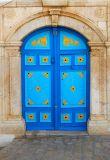 Blue yellow door