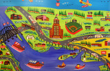 Map Of Buffalo By Elementary School Student