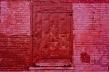 Old Red Metal Door
