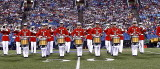 The US Marine Corps Drum and Bugle Corps
