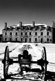 Winter time at Fort Niagara in Black and White