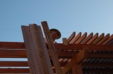About half of the 2X4s are up… and going. DSC_9902.JPG