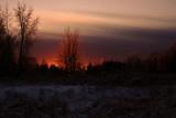 Coucher de soleil & verglas_Sunset & freezing rain