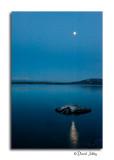 Full Moon above Fishing Cone - West Thumb Geyser Basin