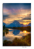 Sunset, Oxbow Bend