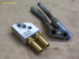 0733 Oil manifold, change from top feed/return to bottom feed/return