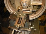 Machining larger objects than lathe swing allows