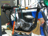 1091 Engine and transmission finally in the frame :-)