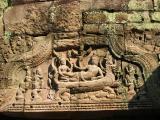 Vishnu reclining on the W pediment