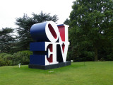 Side view of The American Love by Robert Indiana