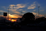 sunset in Wroclaw
