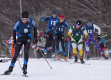 Chugiak's Ben Fitzgerald leads an early pack